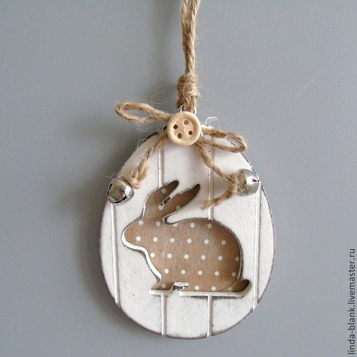 Купить Подвесной декор кролик яйцо ассортимент - белый, кролик, подвесная игрушка, подвесной