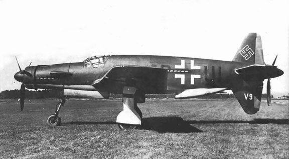 Dornier Do 335, luckly this a/c never reached mass production. Fast and heavly cannon armed.