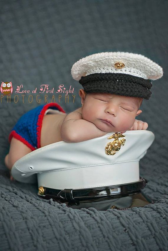 Marine Corps Crochet Cover and Diaper by OnceUponAYarnCrochet, $28.00