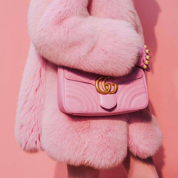 Faux Fur Coat Powder Pink Alpaca Coat Rose Quartz Coat