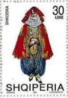 2002 Albania-Trajes Nativos-Mujer de Shkoder
