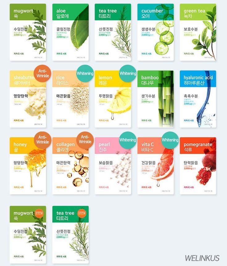 ARITAUM Fresh Power Essence Mask Sheet 17kind / Korean Cosmetics Skin Care pack  #ARITAUM