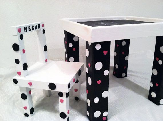 Chalkboard Table 20x20x18 Kids Table Kids By WooderfulCreations