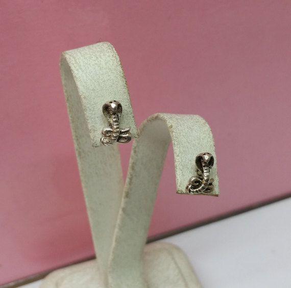Ohrringe Ohrstecker Kobra Schlange Silber SO111 von Schmuckbaron