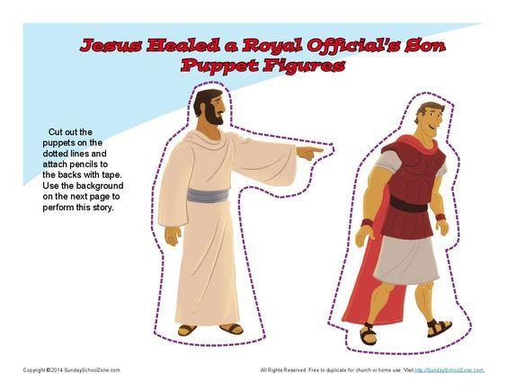 jesus sana al siervo del centurion. figuras