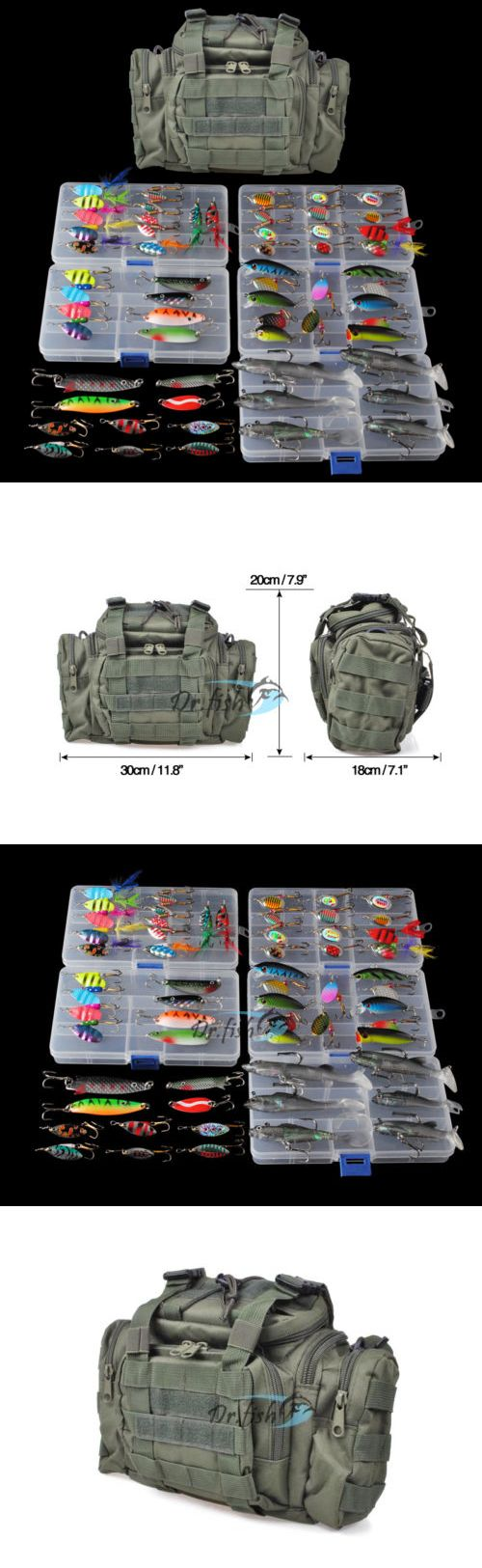 Tackle Boxes and Bags 22696: Fishing Tackle Bag Full With 5 Trays 60 Spinners Spoon Crankbait Huge Gear Kit -> BUY IT NOW ONLY: $64.98 on eBay!