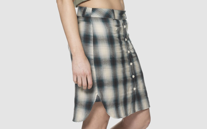 Dr Martens Check Skirt  - Sole View