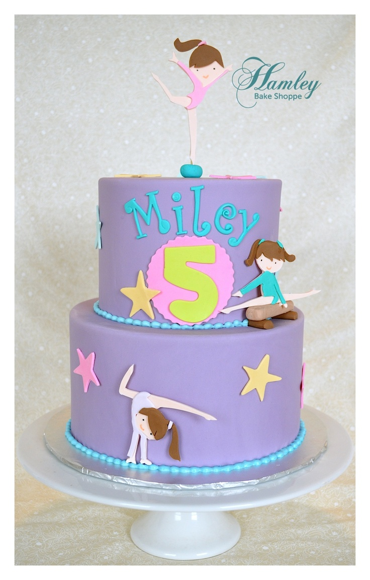 how to make gymnastic cake toppers