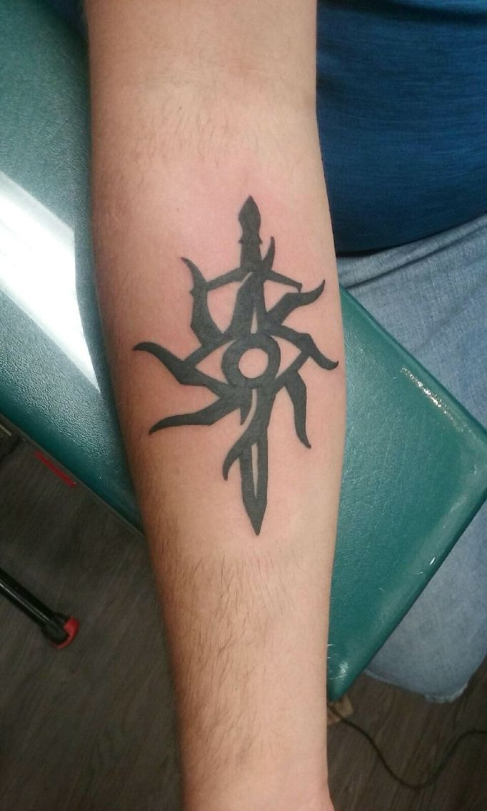 Alexs new tattoo. Dragon age inquisition tattoo simple