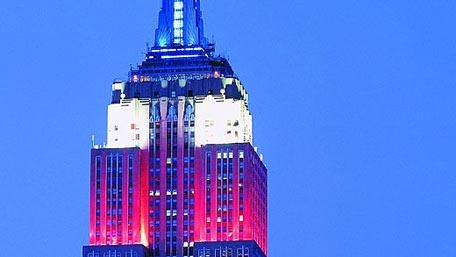 Empire State Building...lights are famous. They are a bright beacon of celebration, remembrance and tribute.