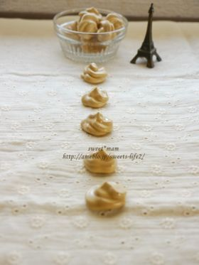 「コーヒー焼きメレンゲ**」satomi* | お菓子・パンのレシピや作り方【corecle*コレクル】