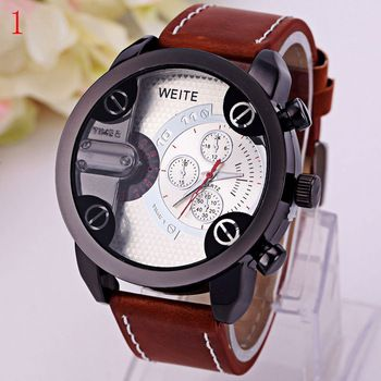 beste lederen band heren horloges sport stijl ontwerp mode outdoor apparatuur china horloge te koop