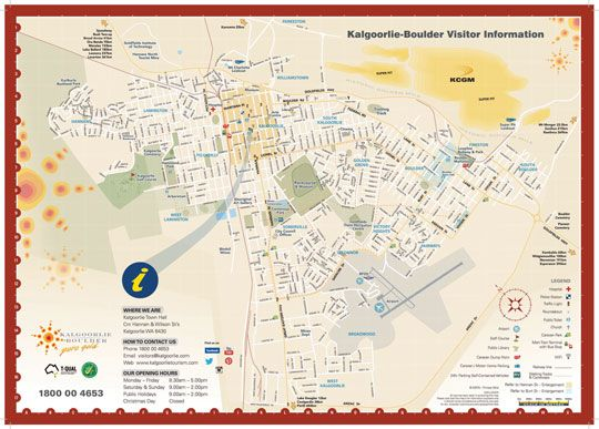 Map of Kalgoorlie Boulder | Kalgoorlie Boulder Tours Accommodation Information