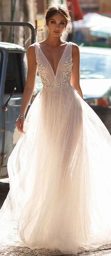 5d43e7e4ee45 Neckline Style Guide For Your Wedding Dress 70 Ideas