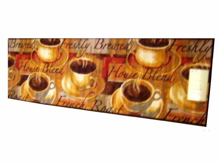 Coffee Themed Kitchen Rug Runner $34.95