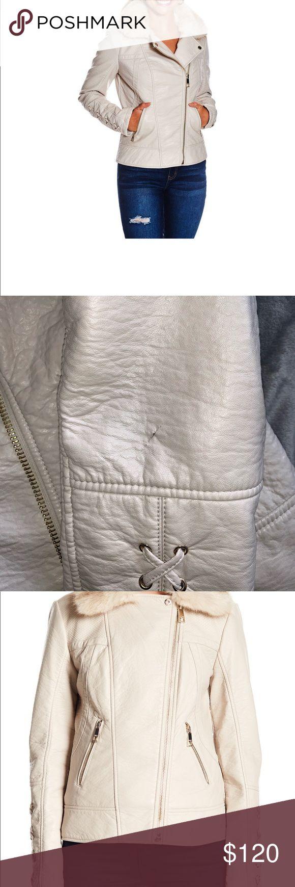 Guess Faux fur &leather moto Jacket in 2020 Moto jacket