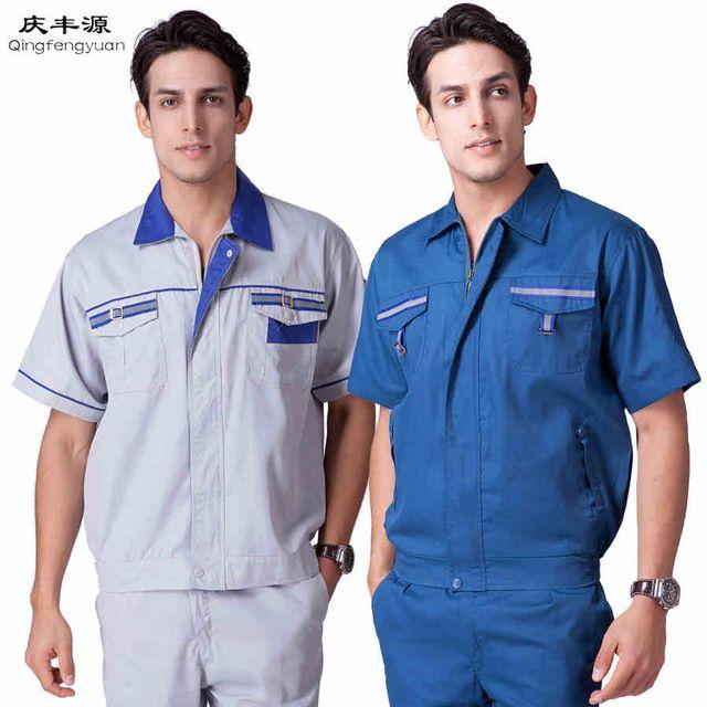 Men's Clothing Sets Engineering service Big Size Suit Sets Men Coveralls Factory work clothes
