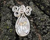 Swarovski & Swirls Victorian Inspired Pendant in Crystal Clear