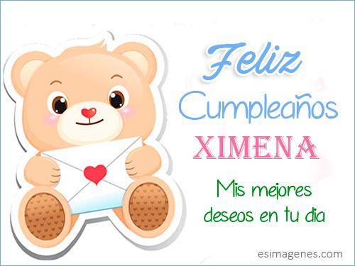 Feliz cumpleaños Ximena Tarjetas de Cumpleaños con Nombres Cumpleaños Cumpleaños con