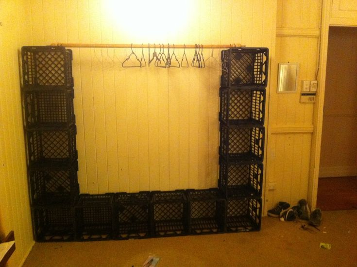garage room divider ideas - milk crates diy Google Search Diy