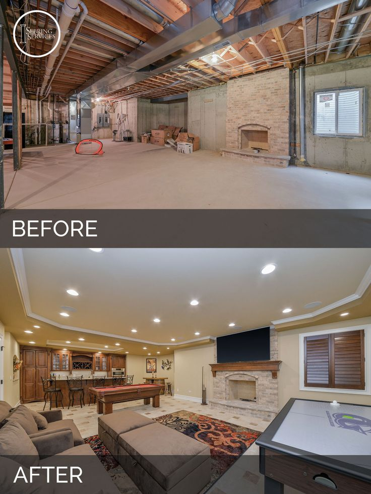Sujith & Vinita's Basement Before & After Pictures