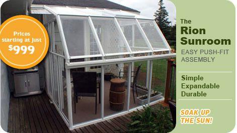 Sunroom Kits Prices Rion Sunroom Leanto Greenhouse