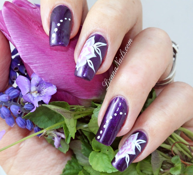 Nail Art One Stroke floral