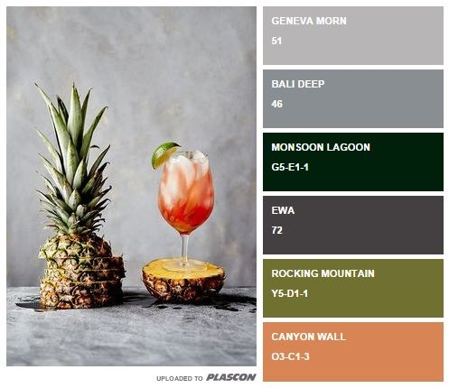 Fruit fiesta: summer-inspired swatch colours from Plascon http://plascontrends.co.za/summer-food-colour-inspiration-swatch-style/ #palette #summer