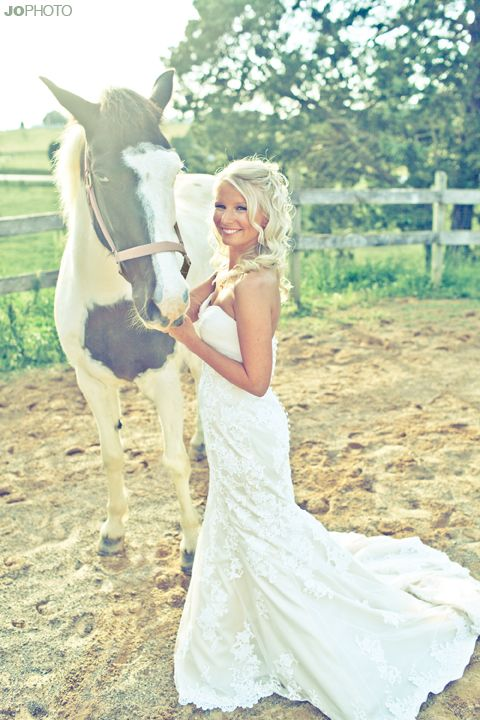 Love this country bride!  by JoPhoto http://www.thebridelink.com/blog/2012/03/13/knoxville-wedding-photography-the-bridal-session/