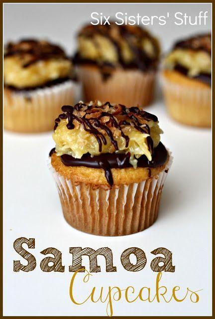 Samoa Cupcakes on MyRecipeMagic.com