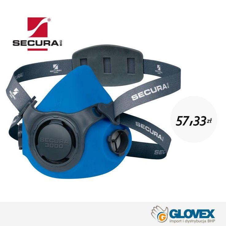 Półmaska #Secura3000 do wielokrotnego użytku. Niezwykle lekka i komfortowa! Niezawodna ochrona w doskonałej cenie!