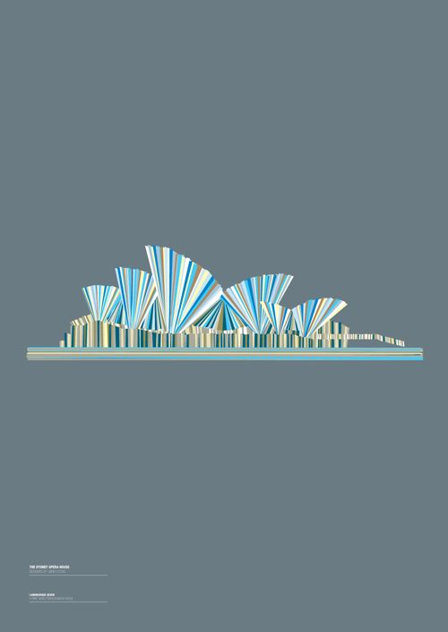 Having become interested in the stories behind some of the world's great landmarks Design by House began to explore ways of expressing their iconic nature without succumbing to the silhouette. The results of this process lead to the 'Landmarque' print series; using layers of shapes and colour to recreate the familiar forms and invoke a sense of location.