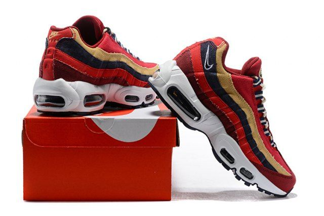 Mens Womens Shoes Nike Air Max 95 Essential October Red Gold