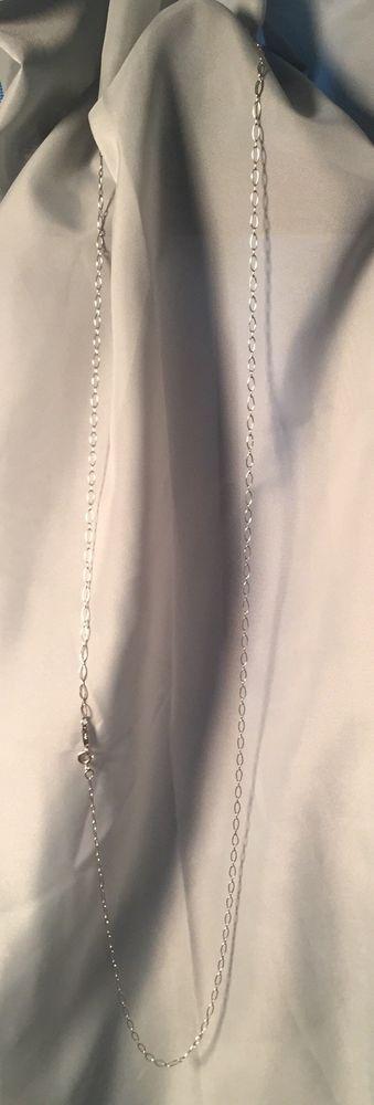 18k Tiffany & Co 32 Inch Oval Link Chain 750 white gold for keys locks necklace  | eBay
