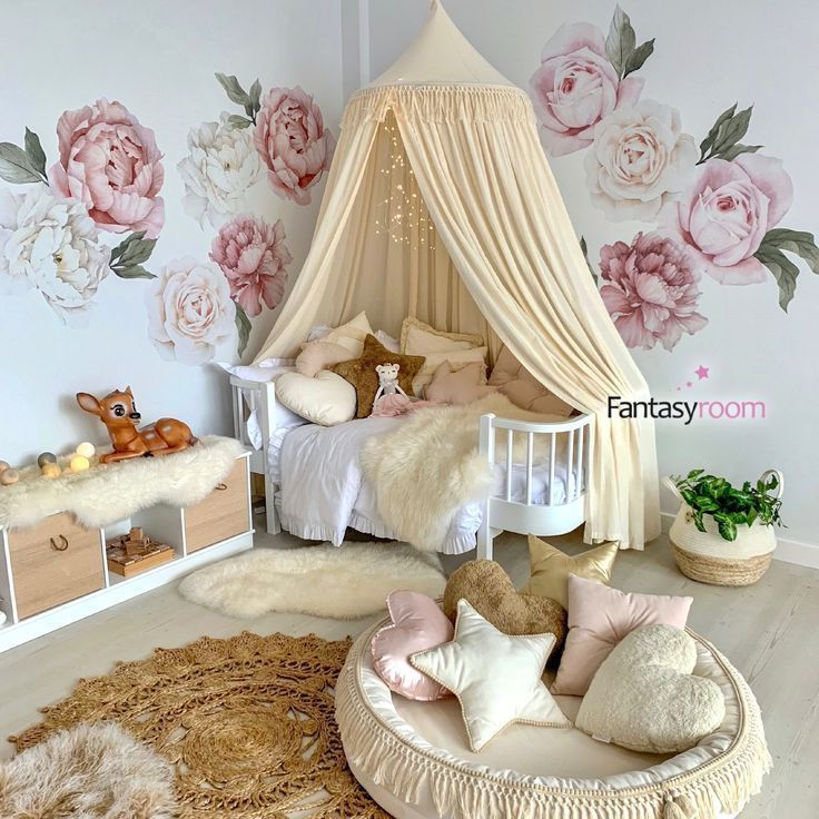 Xl Pack Of Fabric Wall Stickers 39 Peonies 39 Old Rose Cream Stoffwande Aufkleber Fur Wande Altrosa Wandfarbe