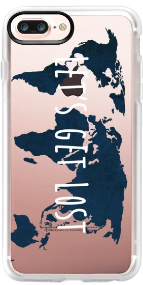 Casetify Protective iPhone 7 Plus Case and iPhone 7 Cases. Other Travel iPhone Covers - Let's Get Lost World Map by Samantha Ranlet | Casetify