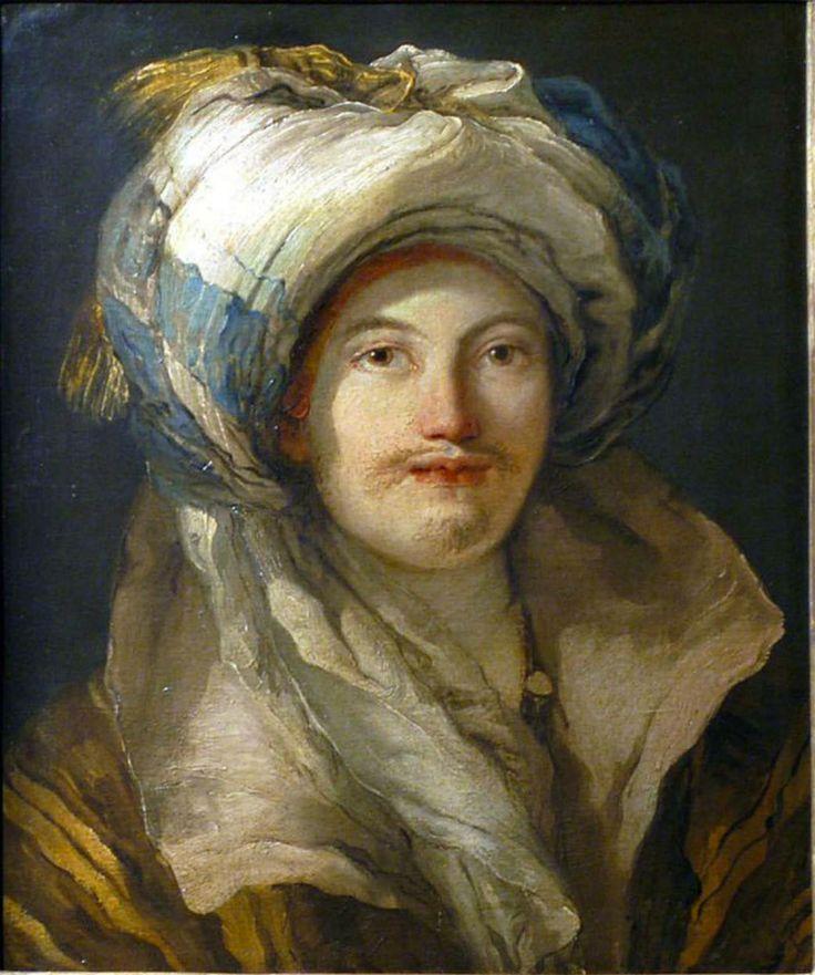 Giovanni Domenico Tiepolo 1727-1804 Figlio di Giovanni Battista Tiepolo e fratello di Lorenzo Tiepolo giovane con turbante-1696-70
