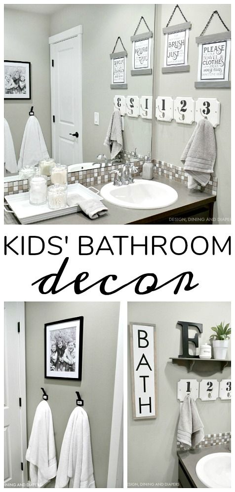 Farmhouse Kids Bathroom Decor using @bhglivebetter products at @walmart #ad