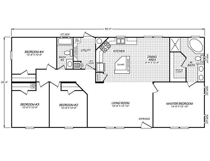 Carriage manor ii 28564c fleetwood homes floor plans for Fleetwood homes floor plans