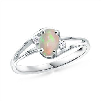 Opal Engagement Ring, Opal Ring So beautiful yet simple