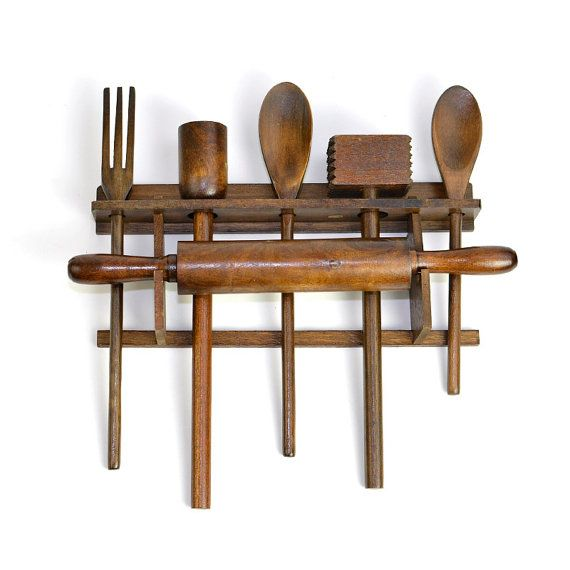 3 Piece Utensil Wall Décor Set : Best images about wooden utensils on wood