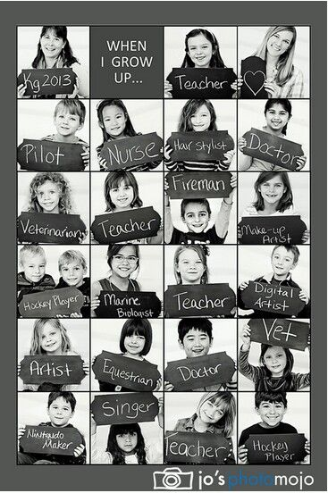 An incredibly clever way to document children's dreams for their future. What do you want to be when you grow up?