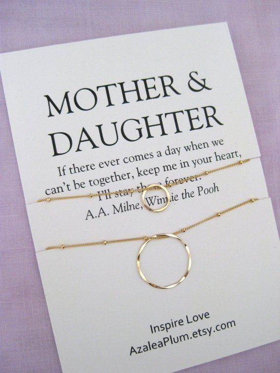 Mother Daughter Necklace Mom Gift 60th Birthday For Jewelry Gifts Her