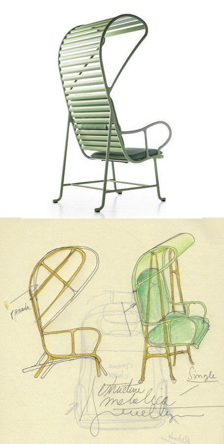 Jaime Hayón for BD Barcelona Design - GARDENIAS   High-back #garden #armchair #design @BD Barcelona Design