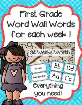 This product will make your life so much easier!  It includes: 34 weeks of word wall words, Directions on how to teach the words each week, Chunks/sounds each week that go with the words, Word wall letters to set up your word wall, Labels for your whiteboard, and a binder cover to organize it all! This product pairs PERFECTLY with my Word Family and Chunk Neighborhood but it is also great on its own!