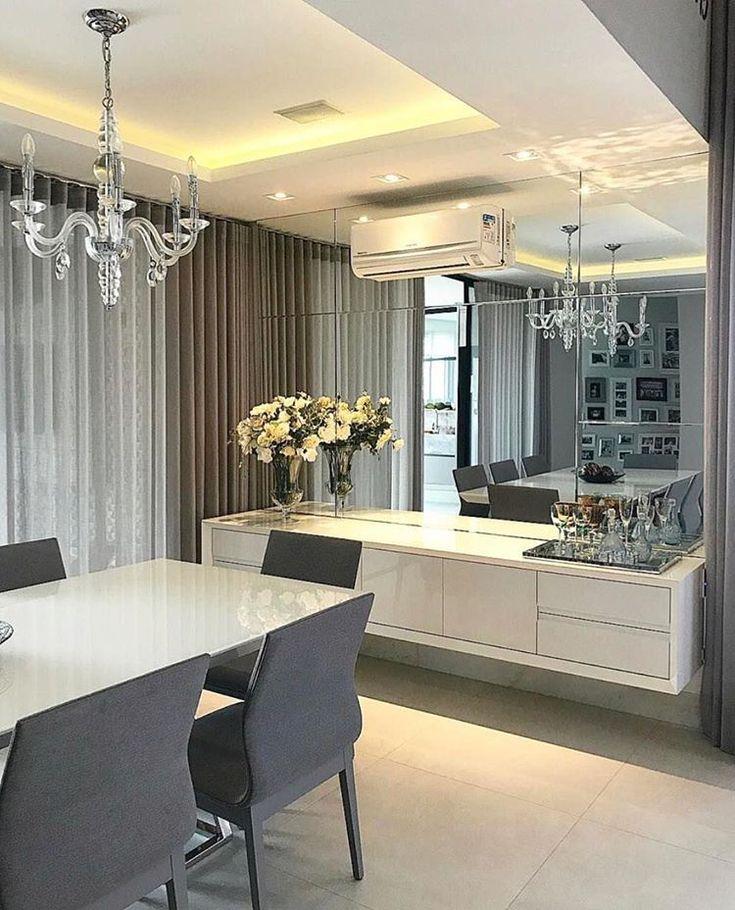 Moderno home decor en 2019 espejos en la sala for Muebles de comedor modernos en rosario