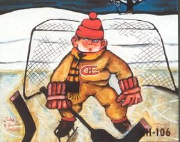 Original limited edition litograph by Normand Hudon New BOOK available November 9 2014 #hudon #art #caricaturist #hockey #winterscene #mixedmedia #canadianartist #quebecartist #originalpainting #balcondart #multiartltee
