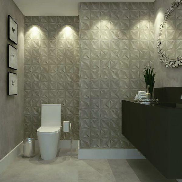 1000+ ideas about Luminaria Banheiro on Pinterest  Banheiro, Armario De Banh -> Banheiros Decorados Ceramica Portinari