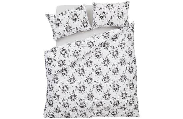 Bianca Cotton Soft Sprig Grey Duvet Cover Set - Single: The Bianca Cotton Soft Sprig Print bedding range will… #UKShopping #OnlineShopping