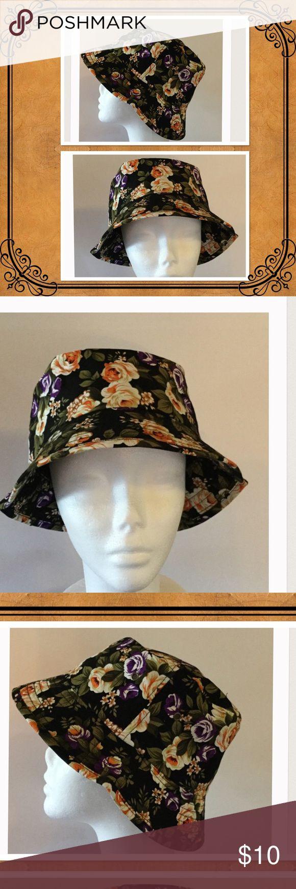 🌻Floral Bucket Hat, NWOT So chic floral bucket hat, 100% Cotton BK Accessories Hats